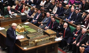 Prime Minister Boris Johnson addresses MPs in the House of Commons in London