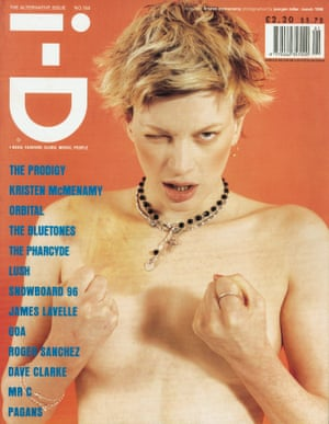 i-D cover 150, styled by Edward Enninful. Photographer: Juergen Teller. Hair and makeup: Cathy Lomax. Model: Kristen McMenamy
