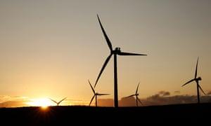 wind turbines in Northumberland