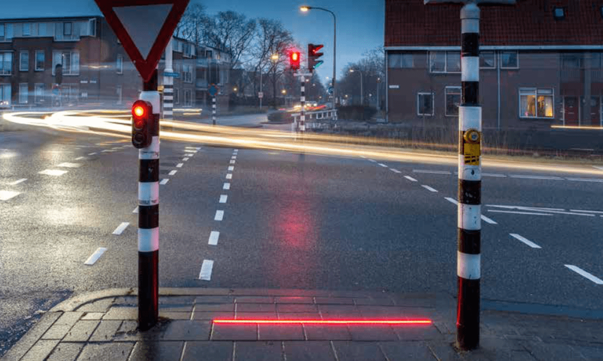 Picture of a new trial crossing in The Netherlands - Picture from The Guardian/HIG