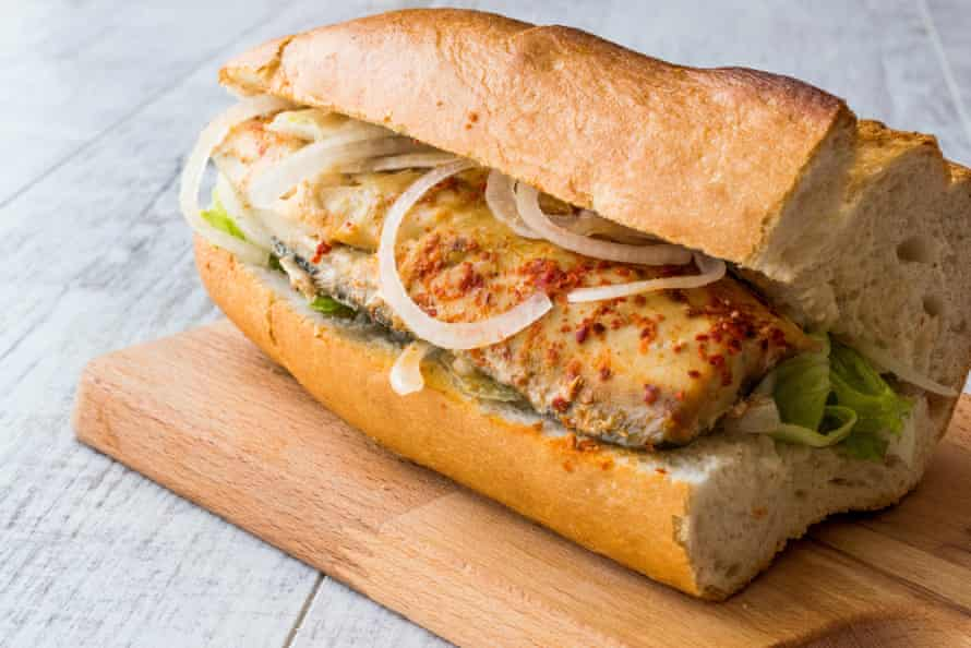 Balik Ekmek, a traditional Turkish fish sandwich