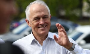 Malcolm Turnbull on the campaign trail in Brisbane on Monday