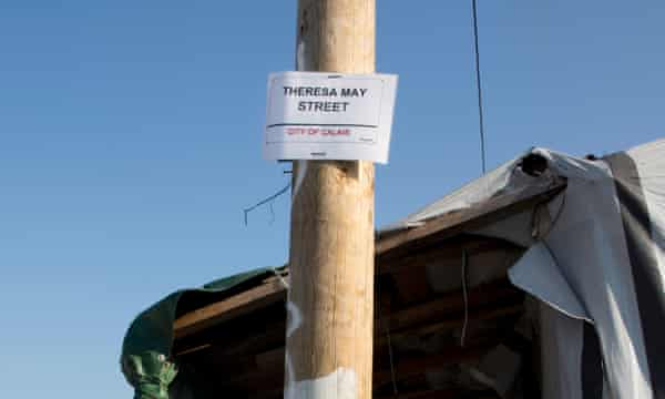 Refugees have named one of the pathways Theresa May Street