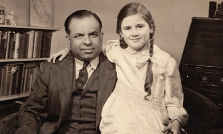 Naseem Khan with her father, 'Abba', a doctor.