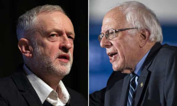 Bernie Sanders and Jeremy Corbyn.