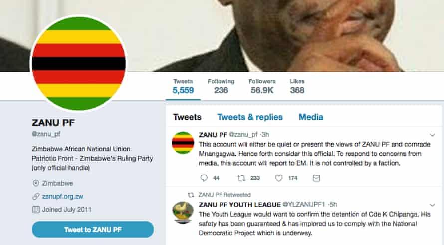 @zanu_pf parody account on Twitter