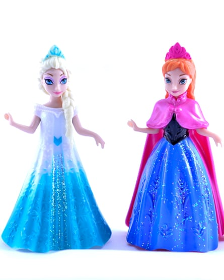 Magiclip Elsa an Anna princess toy dolls, part of Disney's lucrative merchandising from the first Frozen film.