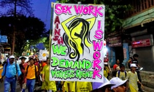 Sex Workers in Sonagachi, Kolkata, rally on the eve of International Labour Day to demand employment rights and government benefits