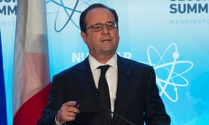 The French president, François Hollande, at a summit in Washington last week.