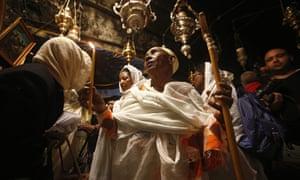 Orthodox Christmas eve in Bethlehem