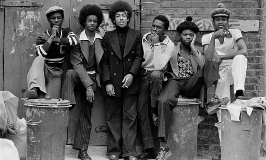 photograph of young black men