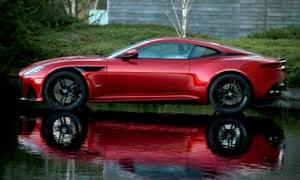 A red Aston Martin DB11