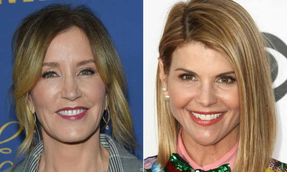 Actors Felicity Huffman, left, and Lori Loughlin were charged with fraud and conspiracy.