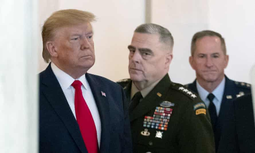 Gen Mark Milley with Donald Trump at the White House.