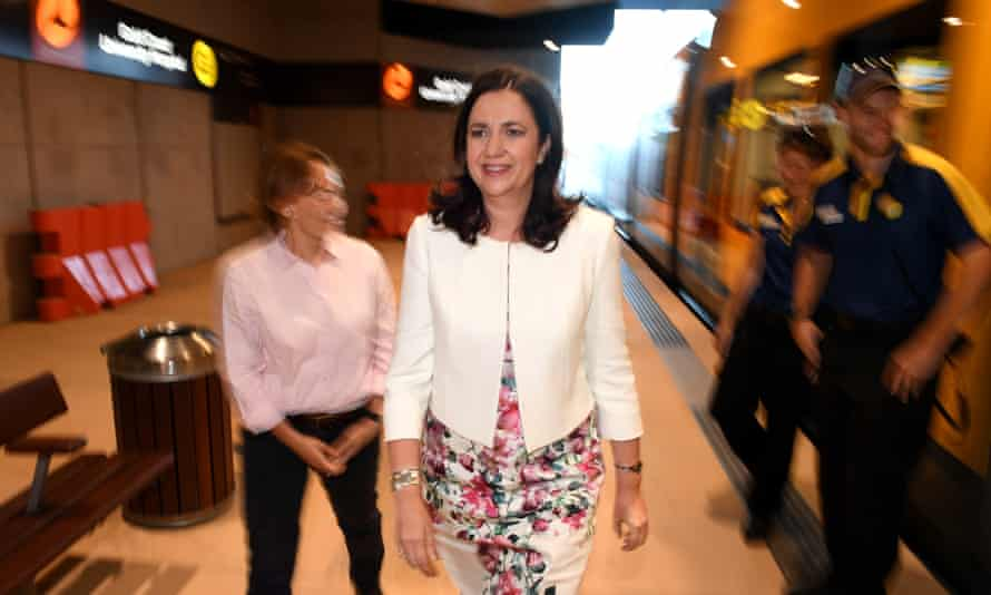 Annastacia Palaszczuk carries out last-minute campaigning on the Gold Coast.