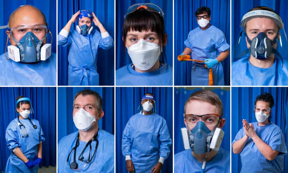 Members of staff in critical care