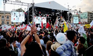 Bolivar Square in Bogota comes alive as the Farc peace deal is signed.