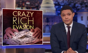"""Trevor Noah: """"You don't have to be a genius to see what's happening here: these billionaires are fear-mongering""""."""