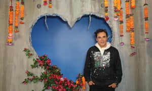 David LaChapelle at the launch of Diesel's Make Love Not Walls campaign.