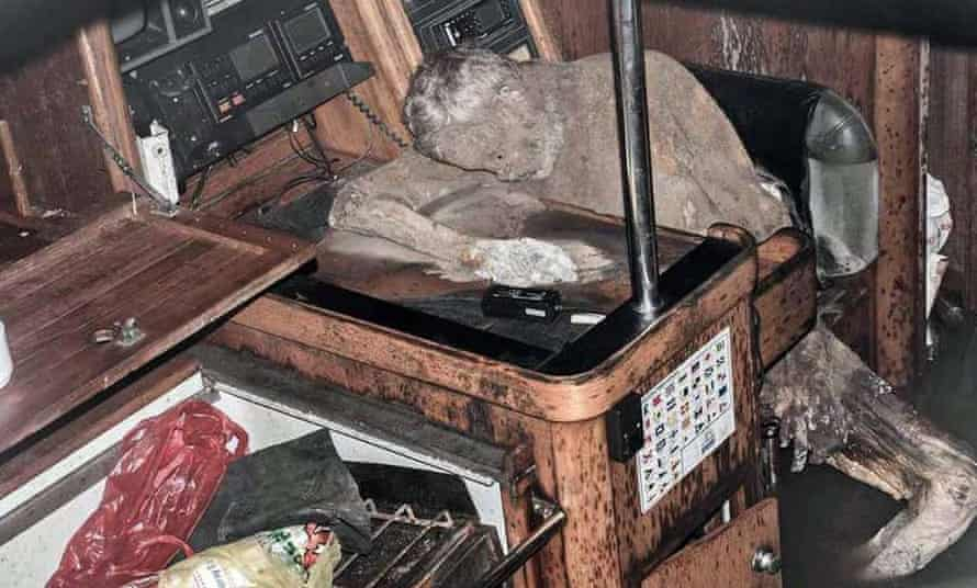 Manfred Fritz Bajorat was found slumped at a desk in a mummified state inside the cabin of a yacht floating in the Pacific