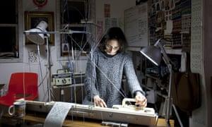 Mati Ventrillon at work in her studio.