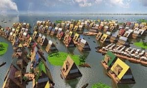Proposal for 'floating urbanism' in Lagos by Kunlé Adeyemi.