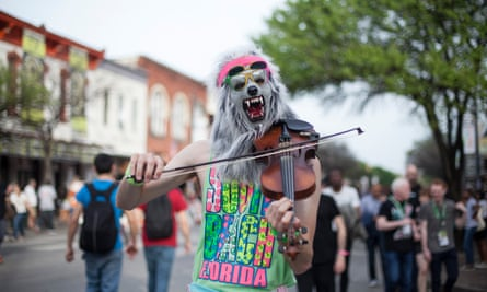 Violin Monster, apparently a classic sight and sound at SXSW festival.