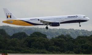 A Monarch Airlines plane.