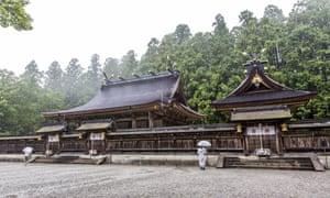 Hongu shrine in the rain.