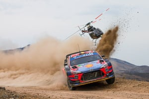 Thierry Neuville of Belgium drives his Hyundai i20 Coupe WRC during the third day of Rally Mexico