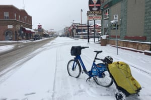 Williams on Route 66, in the snow.