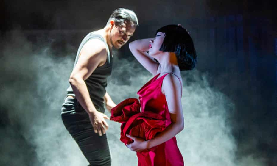 'Outstanding': Filipe Manu as Hippolyt with Hogni Wu in the title role of Phaedra at the Linbury theatre.