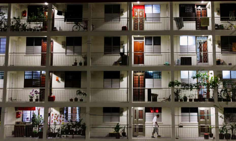 An old public housing estate flat in Singapore's Katong area, built by the HDB.