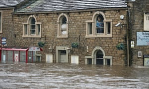 Residents trapped by flood water in Mytholmroyd