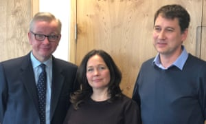 Michael Gove with Tanya and Nadim Ednan-Laperouse