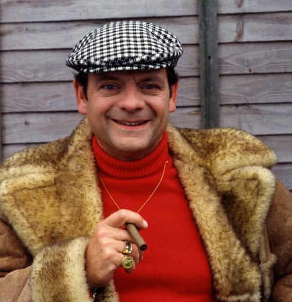 David Jason as Derek 'Delboy' Trotter, wearing his shearling coat.
