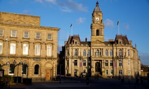 The town hall in Dewsbury