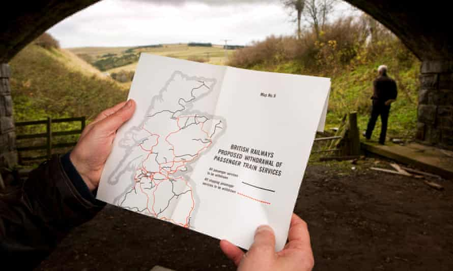 The Beeching report seen at Stow railway station, which reopened in 2015 as part of a Borders Railway initiative.