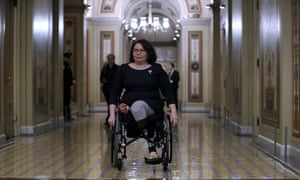 Tammy Duckworth at the US Capitol in Washington DC, on 22 January.