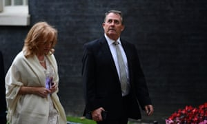 Liam Fox leaves Downing Street after a cabinet meeting on Monday.