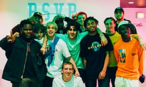 Thirteen of the members of Brockhampton, photographed by the 14th, Ashlan Grey.