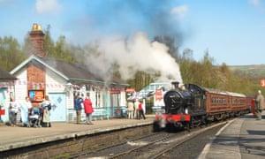 Steam Train on the North Yorkshire Moors Railway, England