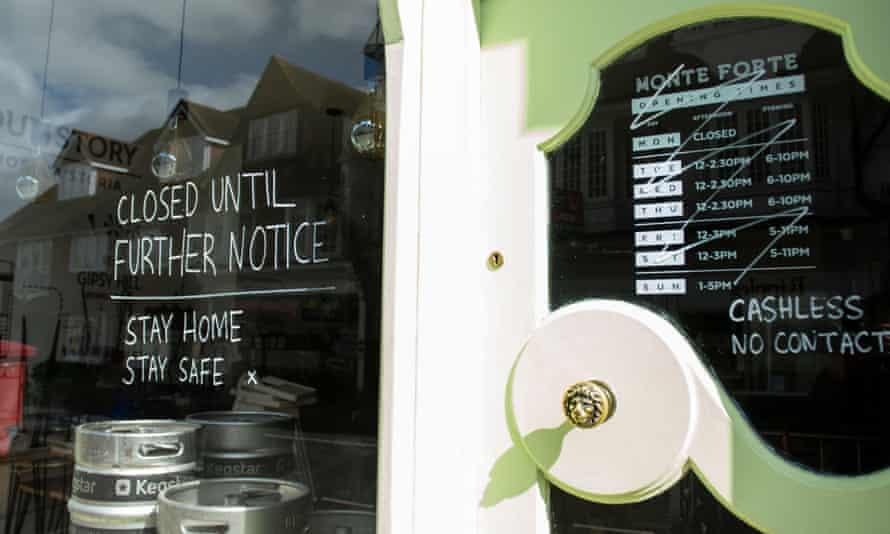 A closed restaurant in Reigate, Surrey.