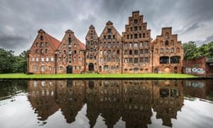 Salzspeicher, historic salt storage warehouses in Lubeck, Germany.