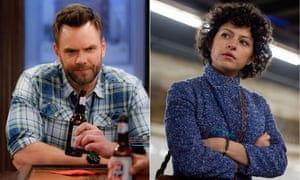 Joel McHale in The Great Indoors and Alia Shawkat in Search Party.