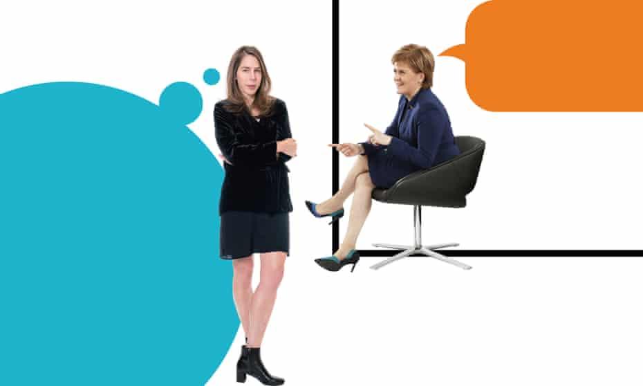 Rachel Kushner and Nicola Sturgeon.