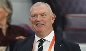 The FA chairman, Greg Clarke, pictured in December 2019 at the Club World Cup in Qatar