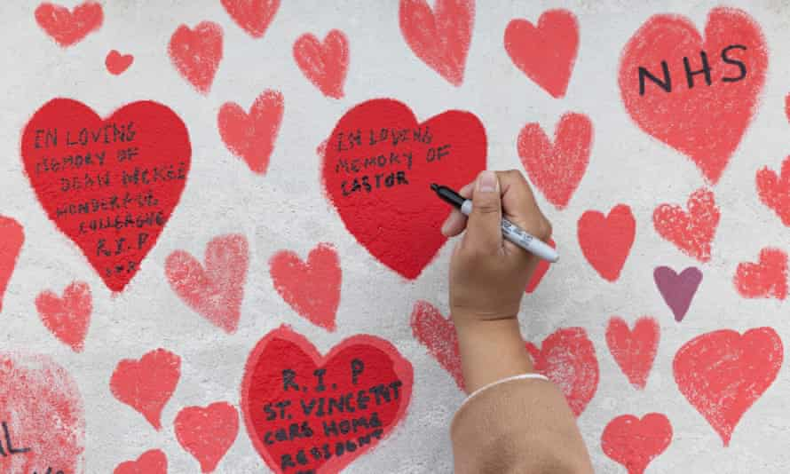 Writing on National Covid Memorial wall
