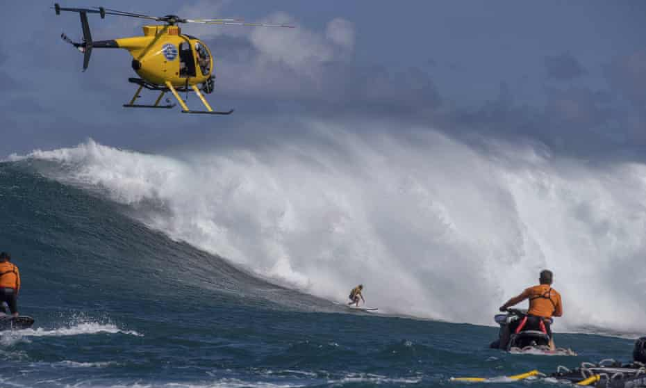 Laura Enever competes during Round 1 of the Peahi Women's Challenge in Honolulu.