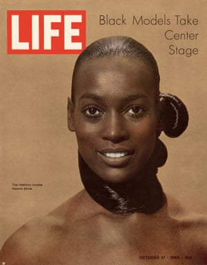 Among the first black supermodels, Naomi Sims was one of the world's highest-paid models of any race in the late 60s and early 70s. As a top model during her relatively short career, Sims was one of the few who did runway shows for high-end designers, magazine covers and fashion editorials, and in television commercials. Here she is on the cover of Life magazine in October 1969, photographed by Yale Joel.
